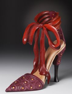 Sculptural Wood Shoe by Denise Nielsen and George Worthington.