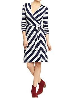 Women's Printed Wrap-Front Dresses | Old Navy