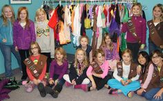 In honor of Juliette Gordon Low's birthday on Halloween, troop 15034 collected costumes for children without the resources to buy their own.