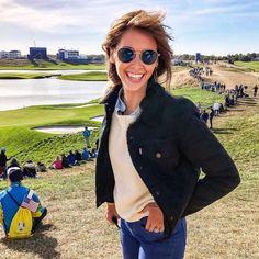 La pétillante Ophelie Meunier à la Ryder Cup portant le model Mayfair ! Ryder Cup, Mayfair, Eye Glasses, Eyewear, Sunglasses Women, Model, Instagram, Style, Fashion