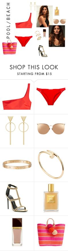 """""""Untitled #293"""" by siena-lily ❤ liked on Polyvore featuring STELLA McCARTNEY, Linda Farrow, Cartier, Tom Ford, Mar y Sol and Tory Burch"""