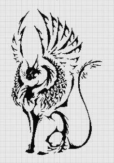 Cat cross stitch pattern - tribal winged cat cross stitch pattern PDF with instructions - winged cat - tattoo by UnconventionalX on Etsy Cross Stitch Animals, Cross Stitch Kits, Cross Stitch Charts, Cross Stitch Designs, Cross Stitch Patterns, Cross Stitching, Cross Stitch Embroidery, Embroidery Patterns, Crochet Cross