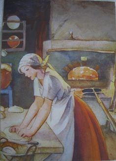 Martta Wendelin: Makes me hungry! Great Paintings, Beautiful Paintings, Vintage Books, Vintage Art, Girl Face Drawing, Vintage Housewife, Pretty Drawings, Love Illustration, Classic Literature
