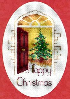 With everything you need to complete and send the card, this Christmas cross stitch kit is the perfect way to let someone know you care at festive sea...