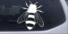 Amazon.com: Honey Bee Animals Car Window Wall Laptop Decal Sticker -- White 3in X 2.7in: Automotive