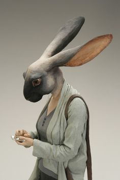 Believing that underground art is a culture that defies simple characterization, Jonathan LeVine will exhibit a variety of celebrated, controversial, and unknown artists. Illustrations, Illustration Art, Inspiration Artistique, Rabbit Sculpture, 3d Fantasy, Rabbit Art, Animal Masks, Arte Horror, Animal Sculptures