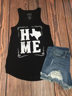 Texas Home Tank Top in Black