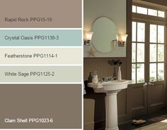 Down To Earth paint color palette by PPG Voice of Color.