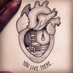 Black and grey traditional anatomical heart tattoo with simple script Granate Tattoo, Paar Tattoo, Aquarell Tattoos, Tattoo Zeichnungen, Future Tattoos, Skin Art, Tattoo Inspiration, Tattoo Studio, Cool Tattoos