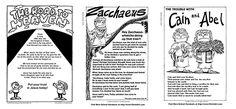 Sunday School Handout Sheets