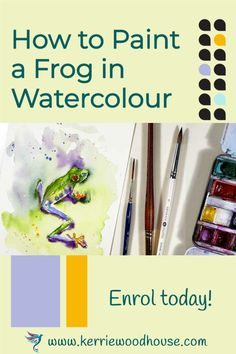 Painting a colourful tree frog is a happy thing indeed! Real time narrated tutorial available with plenty of extra goodies to help you on your painting adventure #watercolour #watercolor #tutorial #painting #frog Acrylic Painting Tips, Watercolor Tips, Watercolour Paintings, Watercolour Tutorials, Abstract Watercolor, Your Paintings, Animal Paintings, Watercolours, Plan Sketch