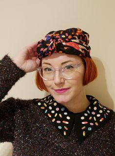 Scarf Styling - Five easy peasy scarf styles including the turban with this Karen Mabon x Lush scarf.