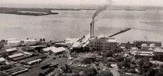 """Central Aguirre, Salinas, Puerto Rico. Operó entre los años 1899 y 1990. Capacidad: 7,000 toneladas por día. Propietarios: Ignacio Rodríguez La fuente, """"Central Aguirre Syndicate"""" (1899), Central Aguirre Sugar Co. (1905) y Corp. Azucarera de P. R. (1970)."""