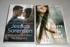 2 Paperback Books Jessica Sorensen Nova-Quinton NO REGRETS  Where She Went  SEE