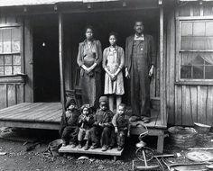 Coal miner Desmond Hairston and family, circa 1943