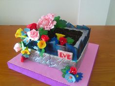 LITTLE FLOWER GARDEN CAKE - Cake by camelialeordean74
