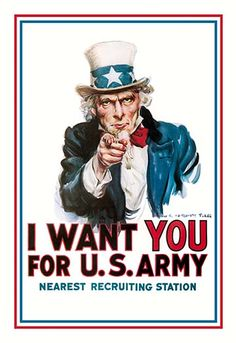 I Want You for the U.S. Army by James M. Flagg -#Art Print #FlaggandChristyWorldWarI #Military #posters https://postercrazed.com/product/i-want-you-for-the-u-s-army-by-james-m-flagg-art-print/