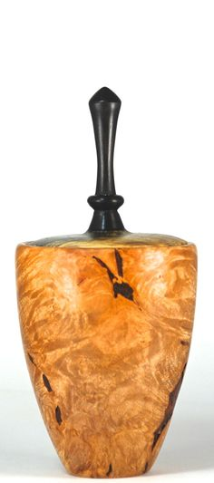 Lidded box turned from Maple Burl with lid by EricReevesWoodturner, $90.00