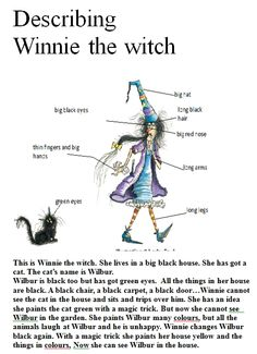 winnie the witch colouring   4th and 5th forms: Winnie the witch!!