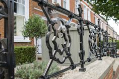 Our cast iron style railings come in all shapes and sizes, pick a pattern or design to suit your front garden. Or let us choose the best combination for your London front garden. Front Gardens, Fence Ideas, Railings, Garden Projects, Gates, Cast Iron, Suit, London, Pattern