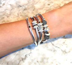 lizzyjames mini ginger wrap bracelet in metallic gunmetal leather