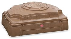 Step2 Play and Store Moulded Sandbox With Kids Seats Protective Lid For Storage #Step2