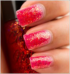 Cult Nails: Captivated. The best pink glitter out there! A MUST have! #CultNails #JointheCult
