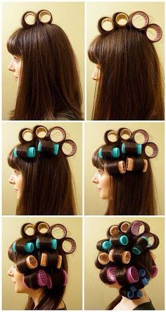 Guide to help put rollers in your hair