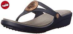 Crocs - Damen Sanrah Kreis Flip Wedge, EUR: 42.5, Navy/Smoke (*Partner-Link)