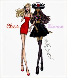 Hayden Williams Fashion Illustrations: Clueless collection by Hayden Williams: Cher & Dee
