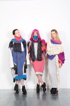 The Lost Tribe. Knitwear inspired by tribal body markings. Jessica Deacon