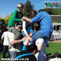 Metropolitan team building event in Stellenbosch Cape Town, facilitated and coordinated by TBAE Team Building and Events Team Building Events, Team Building Activities, College Crafts, Team Building Exercises, Amazing Race, Cape Town, Racing, Couple Photos, Sports