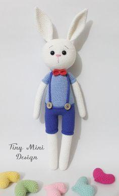 Amigurumi Erkek Tavşan Yapılışı- Amigurumi Crackers Bunny Free Pattern