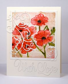 I have another card featuring one of my favourite techniques, 'watercolouring with distress stains'. I worked on a panel of watercolour paper taped to a board and splattered with masking fluid. The...