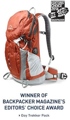 #LLBean Day Trekker Pack - winner of Backpacker Magazine's Editors' Choice Award. $99.95 - Free Shipping