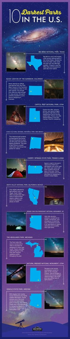 Backpacking photography national parks The 10 Darkest Parks in the United States Red Rover Camping List includes: Big Bend National Park, Black Canyon of the Gunnison, Capitol Reef National Park, Chaco Cultural Historical Park, and more! Oh The Places You'll Go, Places To Travel, Travel Destinations, Places To Visit, Camping Places, Las Vegas, West Usa, Voyage Usa, Camping List