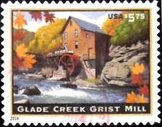 2014: Glade Creek Grist Mill (ארצות הברית) (Priority Mail) Mi:US 5113BA,Sn:US 4927,Yt:US 4747