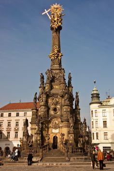 Holy Trinity Column in Olomouc, Czech Republic / Unesco Word Heritage List Prague Czech Republic, Famous Places, Beautiful Places To Visit, Destinations, Eastern Europe, World Heritage Sites, Macedonia, Albania, Slovenia