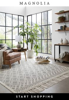 Magnolia Home Rugs Collection by Joanna Gaines Rugs In Living Room, Home And Living, Living Room Decor, Bedroom Decor, Dinning Room Rugs, Bedroom Ideas, Living Spaces, Magnolia Home Rugs, Magnolia Homes