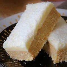 This new and improved Lemon & Coconut Slice recipe is absolutely perfect! A beautiful tangy base topped with a creamy lemon frosting. it seriously doesn't get any better than this! Isn't is funny how some Lemon Recipes, Sweet Recipes, Baking Recipes, Dessert Recipes, Cake Recipes, Baking Desserts, Baking Tips, Brownie Recipes, Lemon Coconut Slice