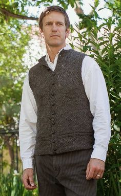 Knitting Patterns Vest Ravelry: A Vest for Charles pattern by Kathleen Dames - beautiful pattern Knitting Designs, Knitting Patterns, Crochet Men, Knit Vest Pattern, Knitting Daily, How To Purl Knit, Knit Purl, Knitting Magazine, Pulls