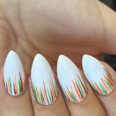 Fall Inspired Waterfall Stiletto Nails