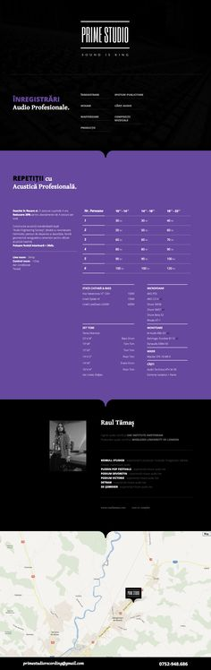 Basic clean one pager but nice to see one for a recording studio - has all the essential info and adapts well down to iPad. Mobile seems a tad buggy.