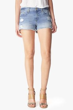 7 For All Mankind, The Cut Off Short in Aura Blue Heritage 2, aura blue heritage, Womens : Shorts & Skirts, AU5088711A