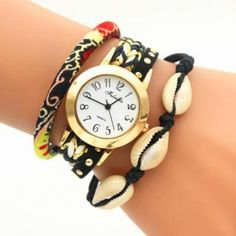 National Style Print Shell Watch