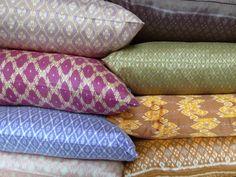 more Cambodian silk ikat pillows