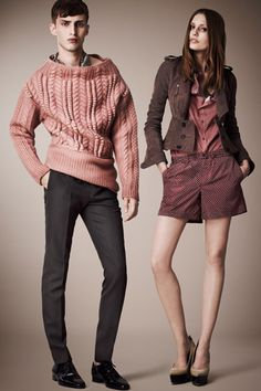 Double trouble: Burberry Prorsum's resort line is made for couples