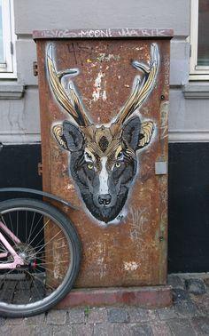 Deer/Wolf by Don John · Copenhagen - Denmark  STREET-ART.DK