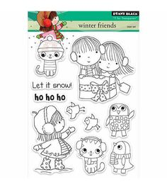 Penny Black Winter Friends Clear Stamps