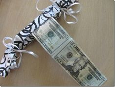 Creative way to give money with tutorial by Crafts ala Mode